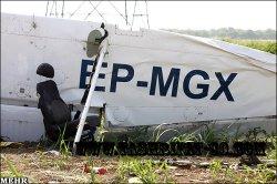 سقوط هواپیمای آموزشی معراج در قزوین
