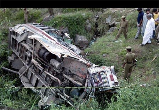 تصادف اتوبوس در هند