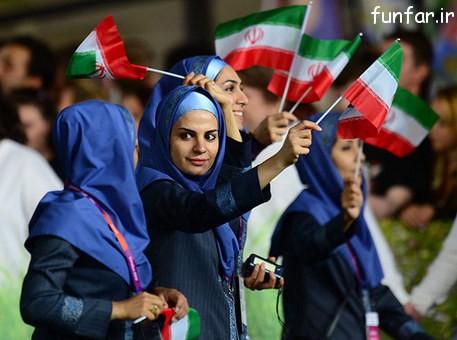 عکس زنان و بانوان کاروان المپیک لندن
