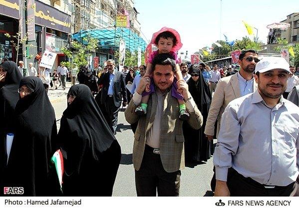 www.ebhamlinks.com | عکس نوه احمدی نژاد در راهپیمایی روز قدس