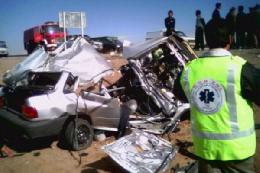 برخورد مرگبار سه خودرو در جاده کن