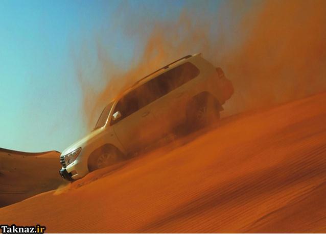 عکسهایی از قدرت نمایی تویوتا لندکروز 2012 www.taknaz.ir