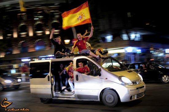 63354778585212021457 جشن قهرمانی اسپانیا در فینال یورو ۲۰۱۲/گزارش تصویری