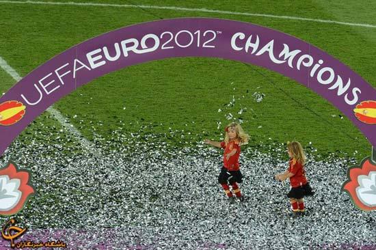 63569225112500253680 جشن قهرمانی اسپانیا در فینال یورو ۲۰۱۲/گزارش تصویری