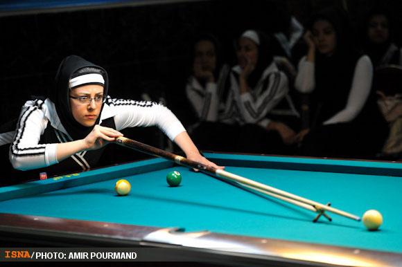 78718 510 عکسهایی از دختران بیلیارد باز ایرانی