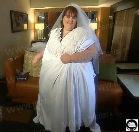لباس عروسی چاق ترین دختر جهان +عکس