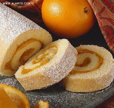 طرز تهیه رولت زردآلو و پرتقال