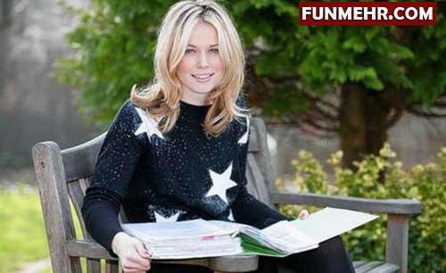 زیباترین دختر بریتانیا بدون آرایش و عمل زیبایی