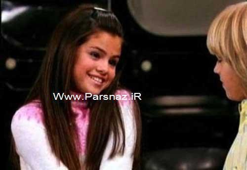 www.parsnaz.ir - تصاویری از کودکی تا بزرگسالی سلنا گومز خواننده جوان و زیبا