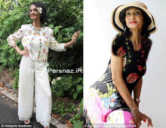 www.parsnaz.ir - این خانم 82 ساله قدیمی ترین مدل آمریکا است + عکس