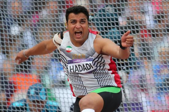 احسان حدادی در رشته پرتاب دیسک به مدال نقره المپیک رسید