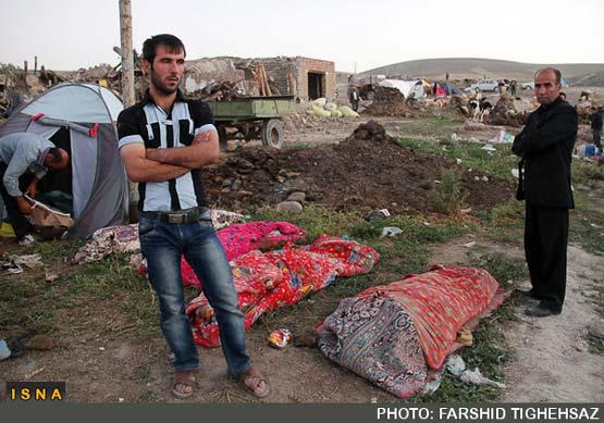 تصاویر غم انگیز از صبح بعد از زلزله دیشب