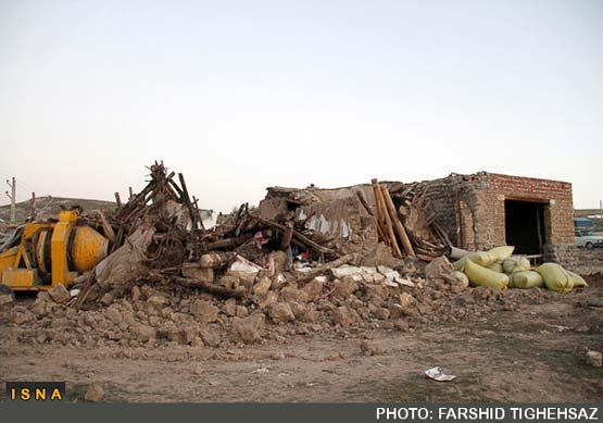 تصاویر غم انگیز از صبح بعد از زلزله