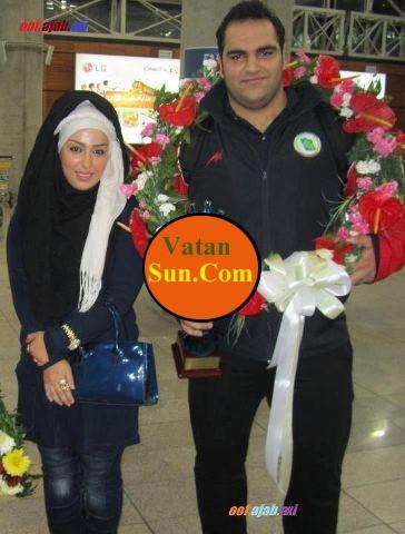همسر بهداد سلیمی در مراسم استقبال از همسرش+عکس