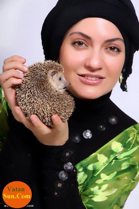 مهناز افشار باحیوان مورد علاقش+عکس