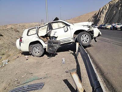 خودرو سرنگون شده وزیر راه و شهر سازی + تصویر