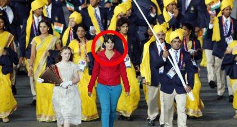 عکس/جنجال زن ناشناس در افتتاحیه المپیک