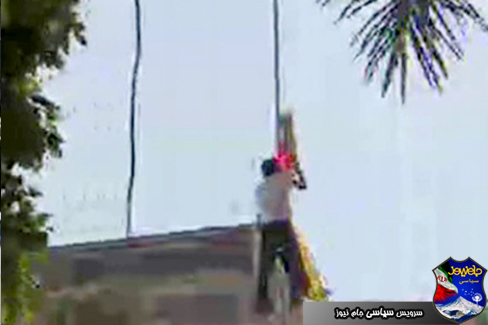 پایین کشیده شدن پرچم میانمار در قاهره