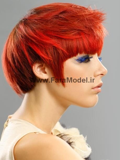 مدل مو کوتاه زنانه - دخترانه 2012 سری 2  - Wwww.FaraModel.ir
