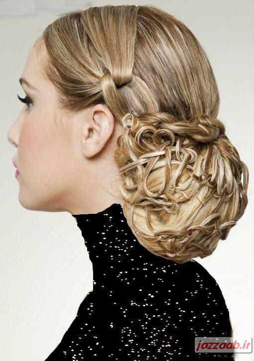 مدل بافت مو ,آموزش بافت موی زنانه ,آرایشگری , www.jazzaab.ir
