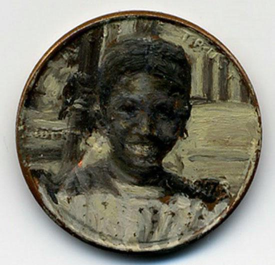 نقاشی های مینیاتوری روی سکه