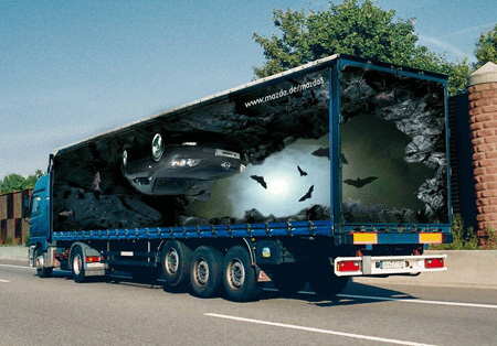 تبلیغات خلاقانه کامیون