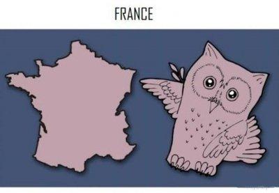 شباهت های تصویری بامزه نقشه کشورهای اروپایی