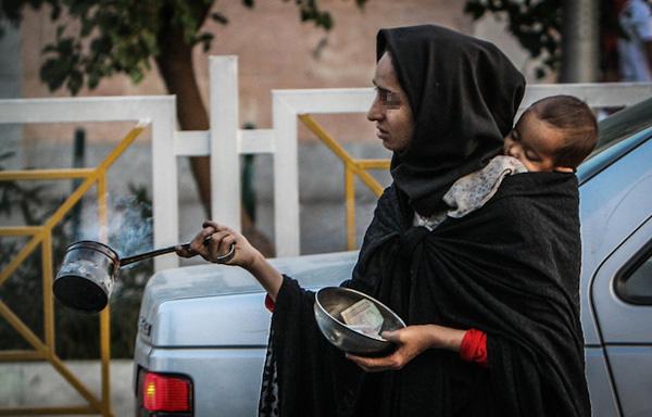 تصاویر زنان متکدی در تهران