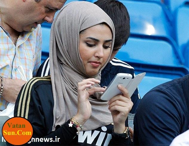 هوادار محجبه رئال مادرید+ عکس