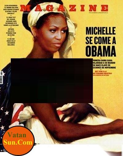 انتشار تصویر نیمه برهنه از همسر اوباما+تصاویر