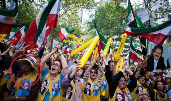 گاف تظاهرکنندگان منافقین در ایالات متحده + تصویر