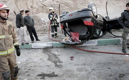 واژگونی خودرو گلف ۵ مصدوم بر جای گذاشت