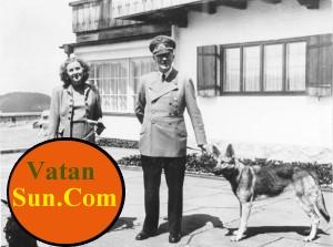 هیتلر با معشو قه اش اوا براون + عکس