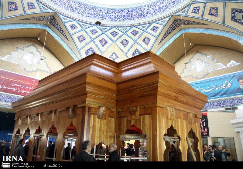ضریح جدید حرم امام حسین در قم رونمایی شد