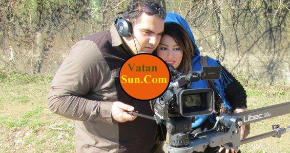 بهداد سلیمی و همسرش در حال فیلم برداری+عکس