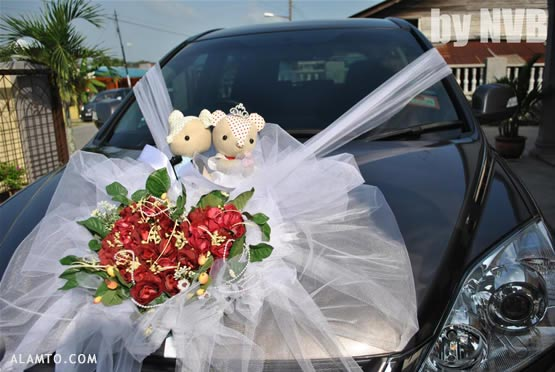 عکس مدل تزیین ماشین عروس جدید