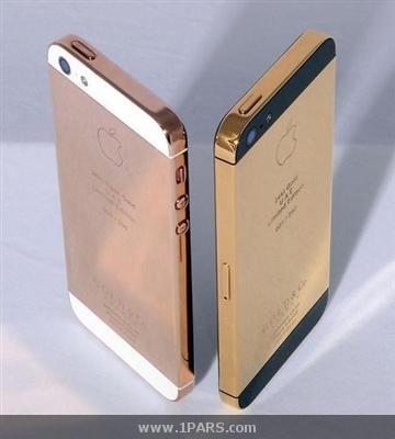 رونمایی آیفون ۵ با پوششی از طلای ۲۴ عیار + عکس
