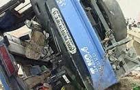 واژگونی اتوبوس زائرانی ایرانی کربلا