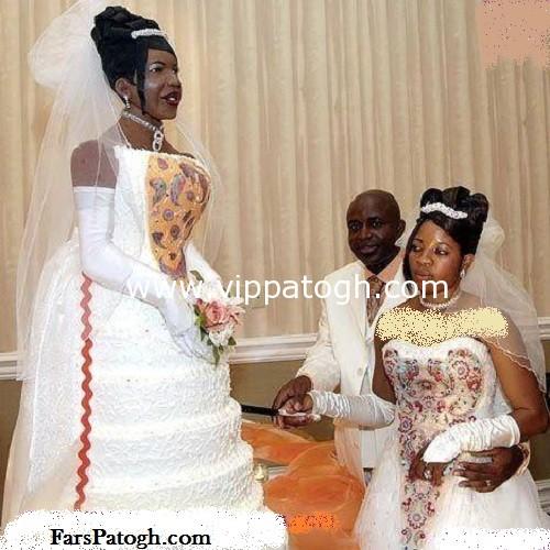 جالبترین کیک عروسی شبیه خود عروس خانم