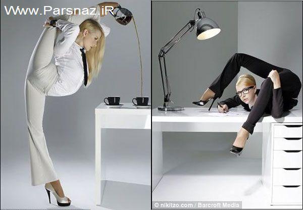 www.parsnaz.ir - عکس هایی از بدن نرم و انعطاف پذیری فوق العاده این خانم