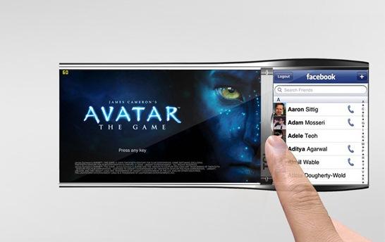 گوشی موبایل با قابلیت تغییر اندازه صفحه نمایش +عکس