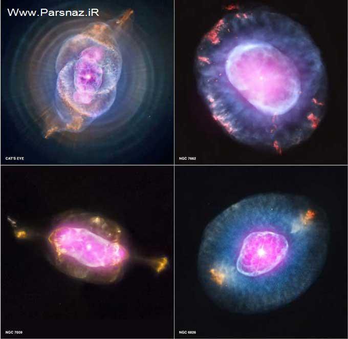 تصاویر بسیار زیبا و حیرت انگیز از مرگ ستارگان