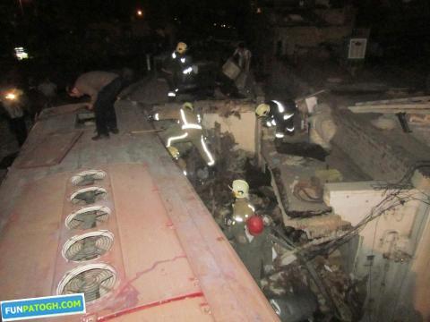 تصاویر اتوبوس وحشت در تهرانپارس