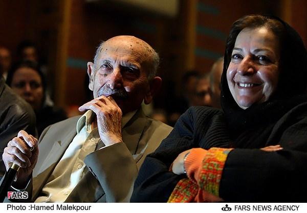 مرضیه برومند در مراسم جشن تولد 88 سالگی مرتضی احمدی