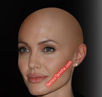 Angelina Jolie balderized سوپر استار های معروف را کچل ببینید (عکسهای جالب)