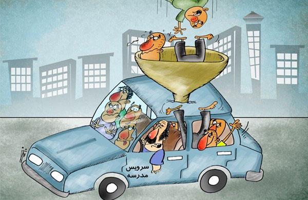عدم صدور برچسب سرویس مدرسه برای خودروهای بالای ۵ سال