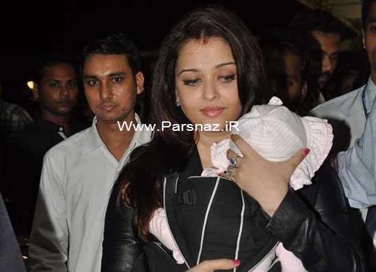 www.parsnaz.ir - دختر آشواریا رای بازیگر محبوب جهان بالاخره دیده شد +عکس