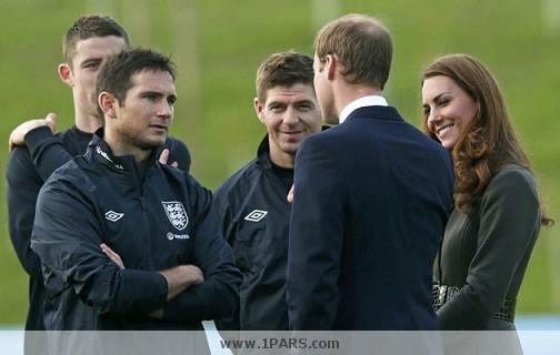 شاهزاده ویلیام و کیت میدلتون در اردوی تیم ملی انگلیس + تصاویر