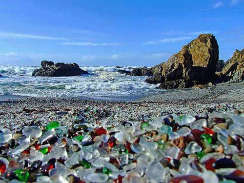 تصاویر شگفت انگیز از ساحل شیشه ای