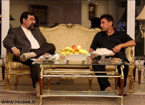 محسن رضایی در منزل قلعهنویی/عکس